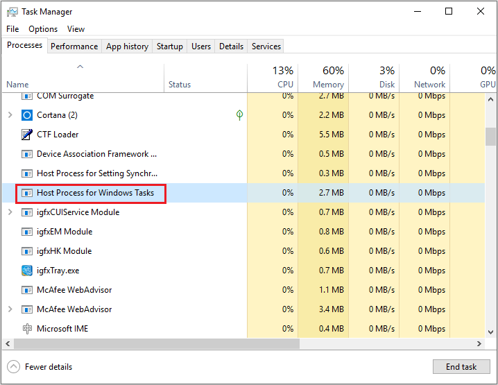 Host Process for Windows Tasks