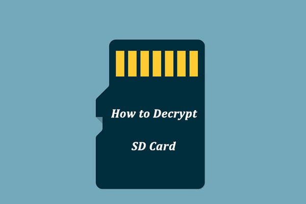 how to decrypt sd card thumbnail