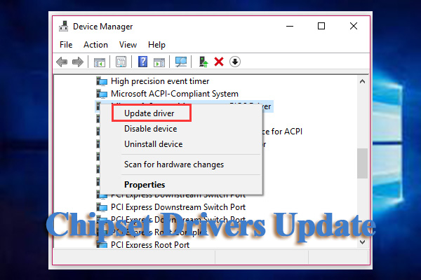 how to update chipset drivers