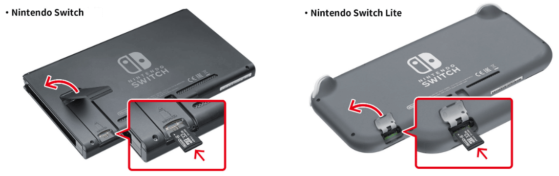 insert a micro SD into Nintendo Switch