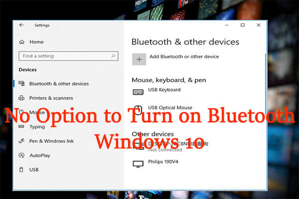 no option to turn on bluetooth windows 10 thumbnail
