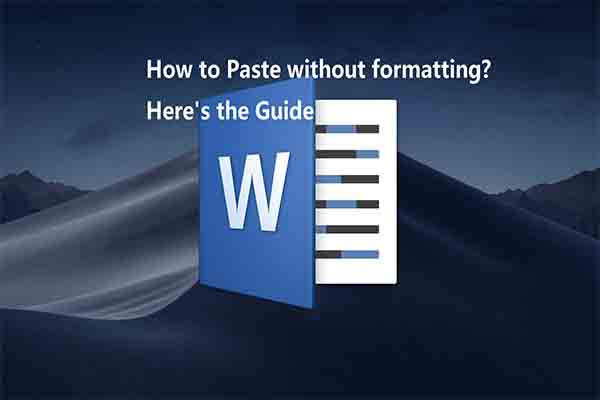 paste without formatting