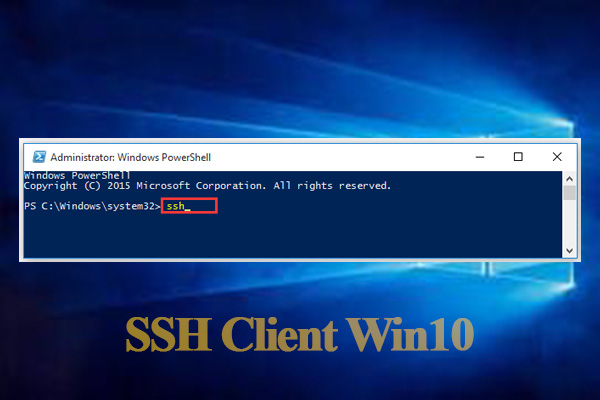SSH client Windows 10