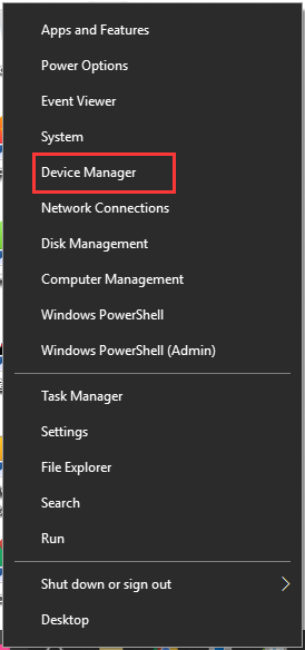 select Device Manager