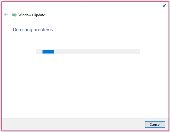 Windows Update troubleshooter is detecting problems
