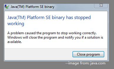 Java Platform SE binary error