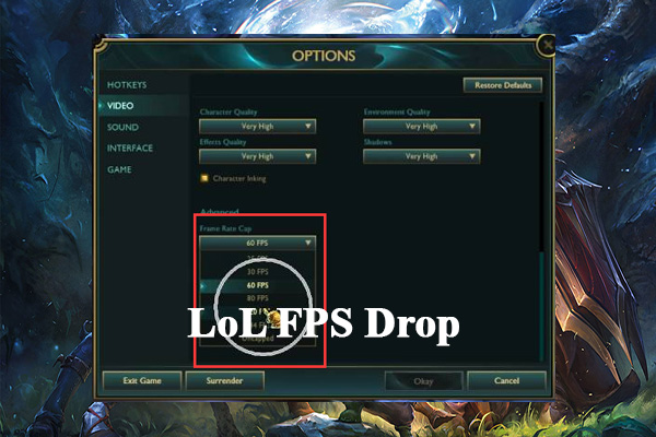 league of legends fps drop thumunail