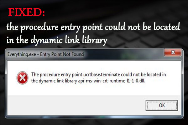 the procedure entry point could not be located in the dynamic link library