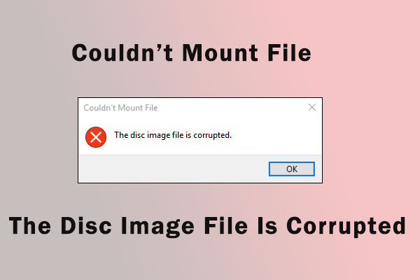 disc image file is corrupted