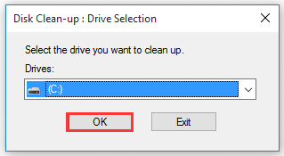 select a drive from drop down menu