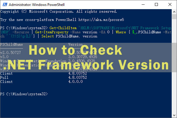 how to check net framework version thumbnail