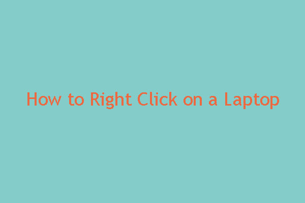 how to right click on a laptop