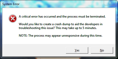 League of Legends critical error