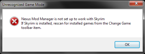 Nexus Mod Manager is not set up to work with Skyrim