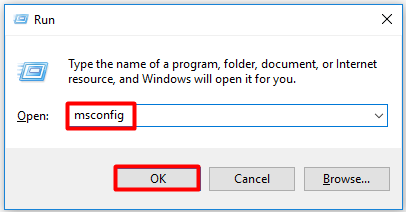 open system configuration window from run utility