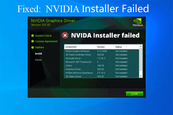 nvidia installer failed thumbnail