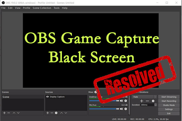 obs game capture black screen thumbnail