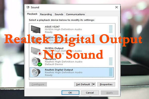 realtek digital output no sound thumbnail