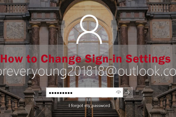 change sign-in settings