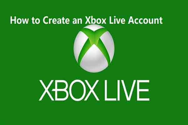 create an Xbox live account