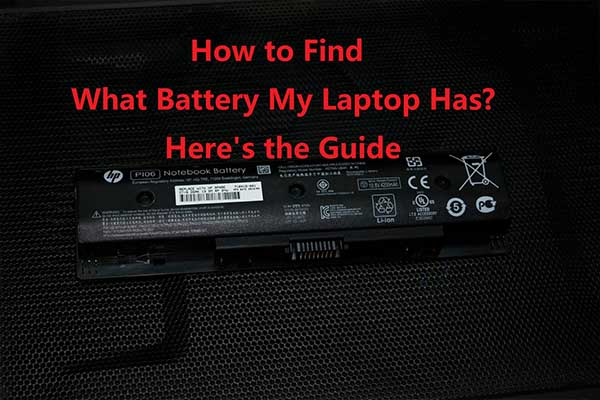 how to find what battery my laptop has