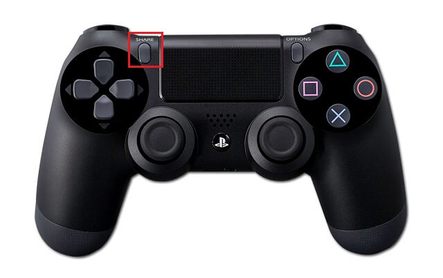 Press SHARE Button on PS4