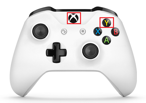 Tap Xbox and Y Buttons on Xbox One