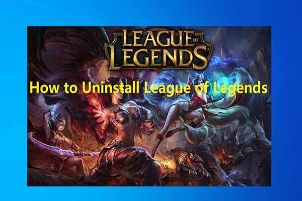 how to uninstall league of legends thumbnail