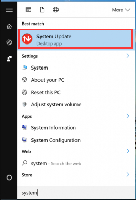 select Lenovo System Update