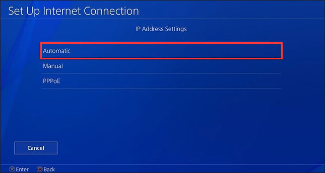 leave the IP Address Settings to Automatic