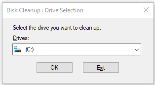 open Disk cleanup window
