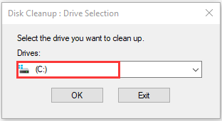select a drive and click OK