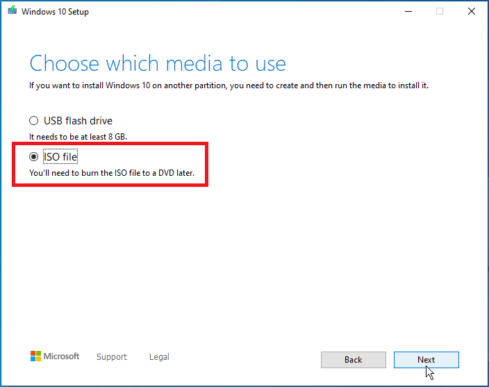 create a Windows 10 ISO file