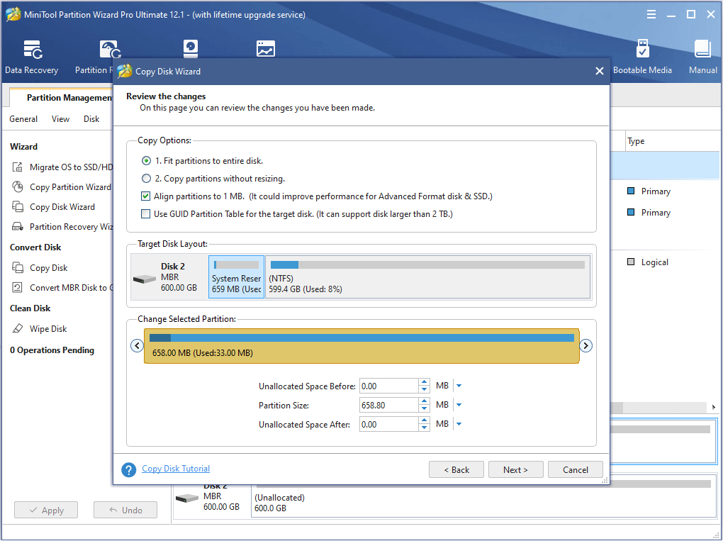 make configuration for the new disk