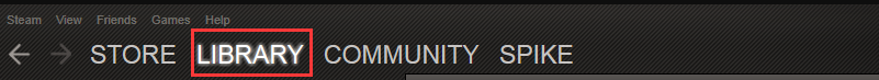 click on Library tab in Steam