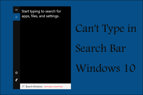 can't type in Windows search