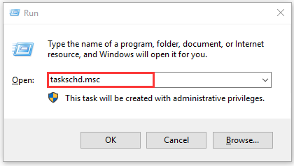 type taskschdmsc in the Run box