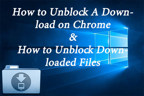 how to unblock a download
