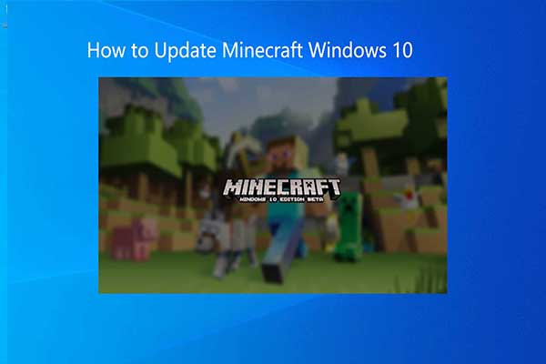 how to update minecraft win10 thumbnail