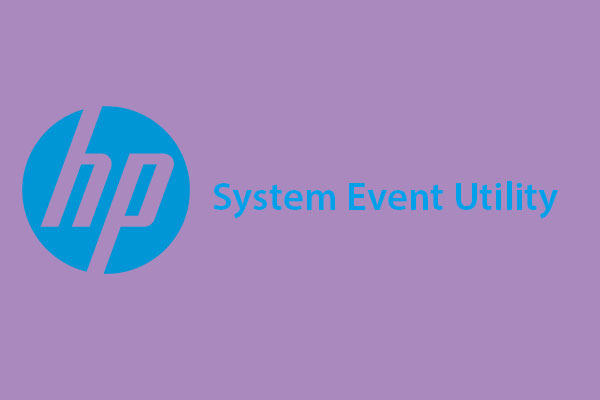 HP System Event Utility