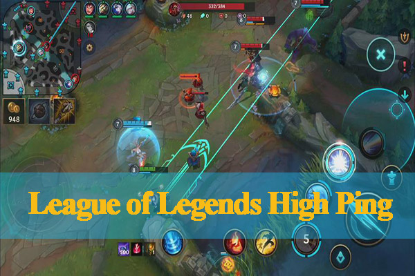 League of Legends high ping