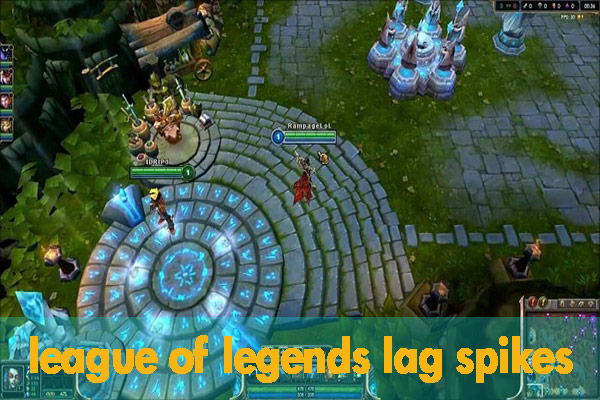 League of Legends lag spikes
