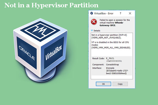 not in a hypervisor partition thumbnail