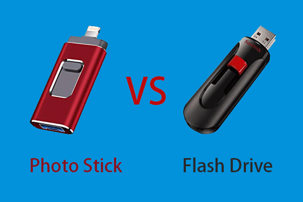 what is the difference between a photo stick and a flash drive