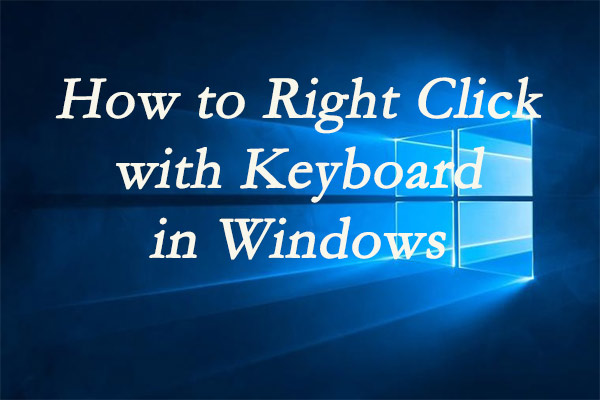 right click with keyboard