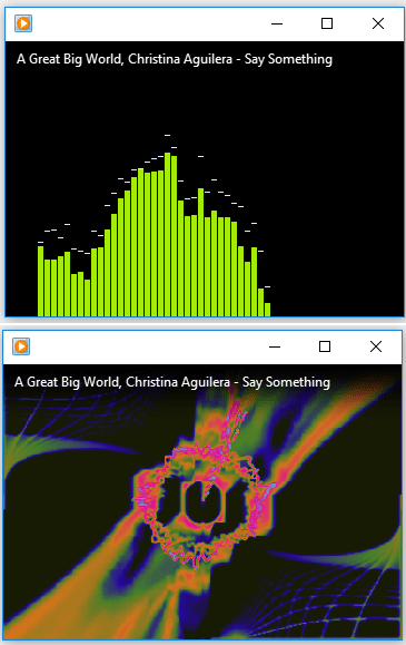 play music with visualizations