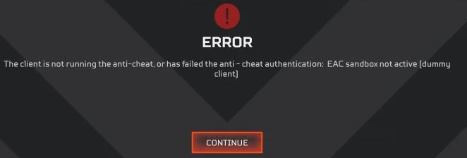 Apex Legends Anti cheat error