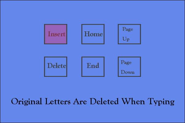 how to stop deleting when typing