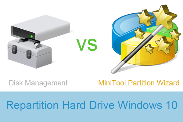 repartition hard drive windows 10