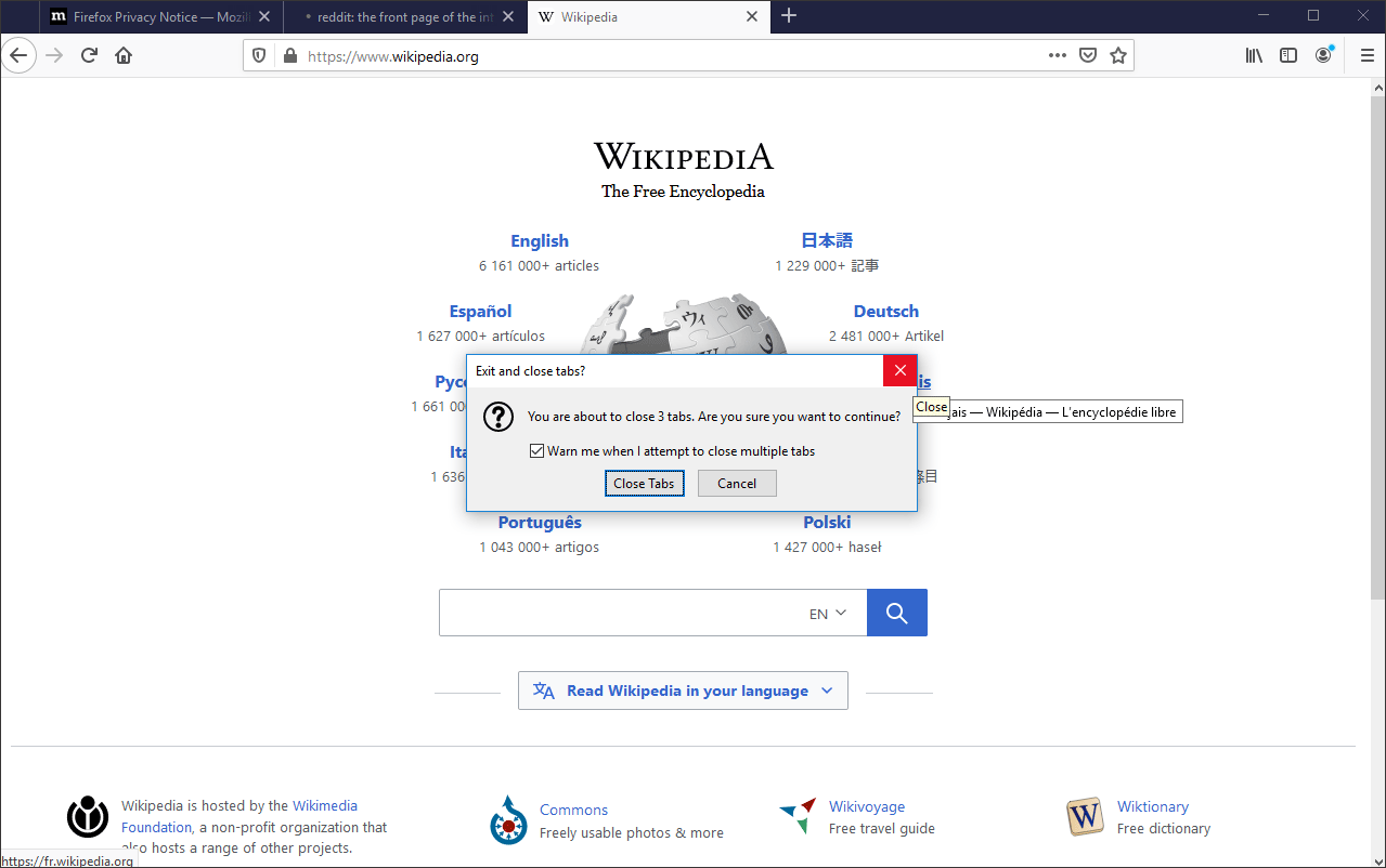 receive a prompt on Firefox